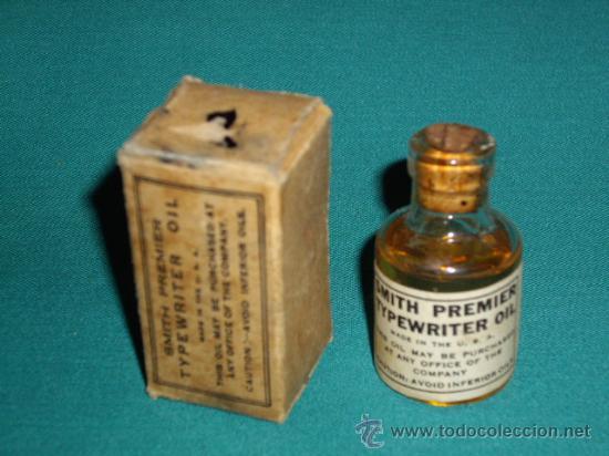 Antigüedades: TYPEWRITER OIL - SMITH PREMIER - Foto 3 - 28300900
