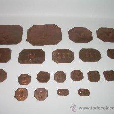 Antigüedades: ANTIGUOS PONDERALES DE COBRE.....LOTE DE 20 UNIDADES.. Lote 28302854