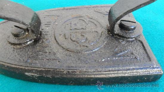 Antigüedades: plancha de hierro antiogua - Foto 2 - 28316079