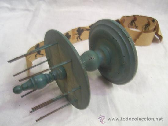Antigüedades: Zootropo de Madera. - Foto 3 - 28388815
