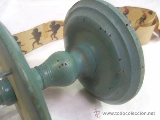 Antigüedades: Zootropo de Madera. - Foto 5 - 28388815