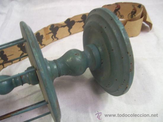 Antigüedades: Zootropo de Madera. - Foto 6 - 28388815