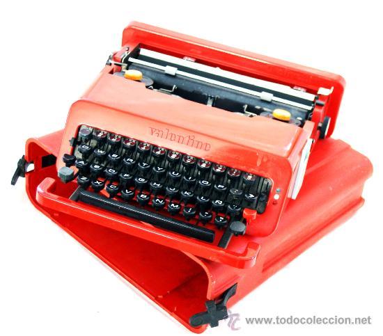 ESTUPENDA MÁQUINA VALENTINE - OLIVETTI - DISEÑO DE ETTORE SOTTSASS - AÑO 1969 - (Antigüedades - Técnicas - Máquinas de Escribir Antiguas - Olivetti)