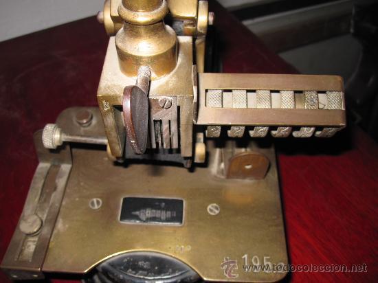 Antigüedades: IMPRESIONANTE APARATO PARA NUMERAR, DE IMPRENTA U OFICINA. S.XIX. HIERRO Y BRONCE. GRAN TAMAÑO - Foto 5 - 28445276