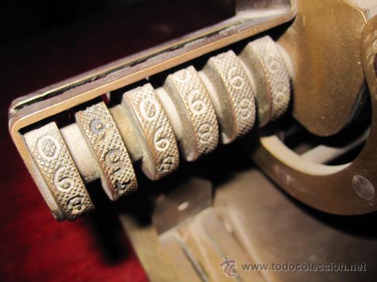 Antigüedades: IMPRESIONANTE APARATO PARA NUMERAR, DE IMPRENTA U OFICINA. S.XIX. HIERRO Y BRONCE. GRAN TAMAÑO - Foto 7 - 28445276