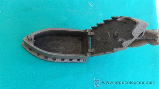 Antigüedades: plancha de hirro antigua - Foto 2 - 28460577