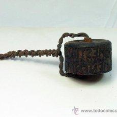 Antigüedades: ANTIGUO SELLO TAMPON PUBLICIDAD COMERCIO PESCADOS COMESTIBLES OVIEDO ASTURIAS. Lote 28507517