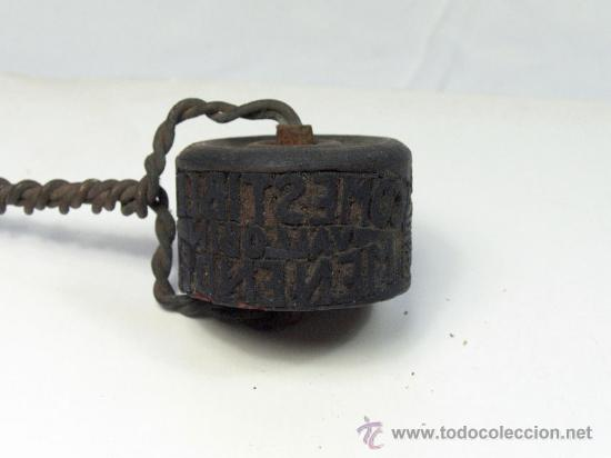Antigüedades: ANTIGUO SELLO TAMPON PUBLICIDAD COMERCIO PESCADOS COMESTIBLES OVIEDO ASTURIAS - Foto 3 - 28507517