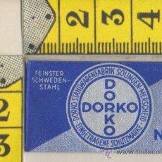 Antigüedades: CUCHILLA DE AFEITAR DORKO Nº 10 HOJA. Lote 236193310