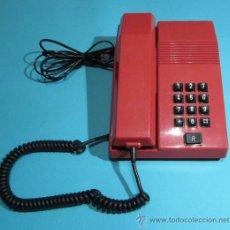 Teléfonos: TELÉFONO MODELO TEIDE COLOR ROJO. FABRICADO EN 1989. FUNCIONA CORRECTAMENTE. Lote 28583508
