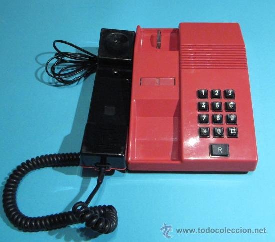 Teléfonos: TELÉFONO MODELO TEIDE COLOR ROJO. FABRICADO EN 1989. FUNCIONA CORRECTAMENTE - Foto 2 - 28583508
