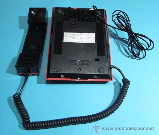 Teléfonos: TELÉFONO MODELO TEIDE COLOR ROJO. FABRICADO EN 1989. FUNCIONA CORRECTAMENTE - Foto 3 - 28583508