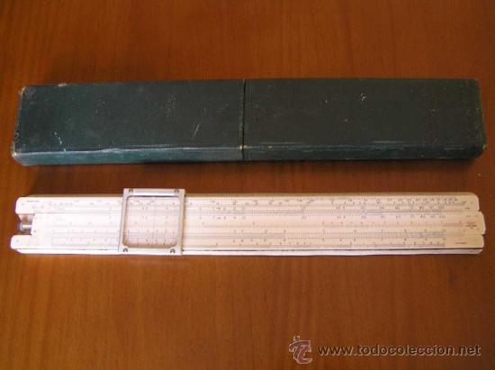 Antigüedades: REGLA DE CALCULO P.I.C PAT.Nº 2411090 THORNTON MADE IN ENGLAND SLIDE RULE CALCULADORA RECHENSCHIEBER - Foto 3 - 28721717