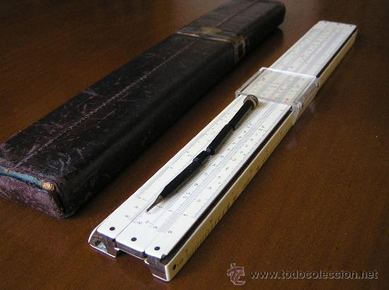 REGLA DE CALCULO FABER CASTELL ADDIATOR 1/87A CON CALCULADORA ADDIATOR - SLIDE RULE RECHENSCHIEBER - (Antigüedades - Técnicas - Aparatos de Cálculo - Reglas de Cálculo Antiguas)