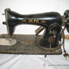 Antigüedades: MAQUINA DE COSER ALFA. Lote 28863550