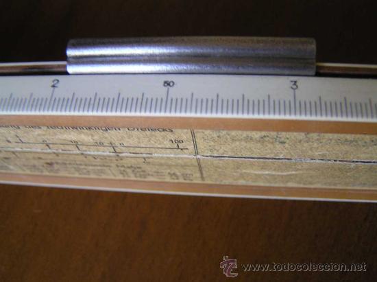 Antigüedades: REGLA DE CALCULO A.W. FABER CASTELL 1/87 SYST. RIETZ AÑOS 40 CALCULADORA SLIDE RULE RECHENSCHIEBER - Foto 17 - 137123658