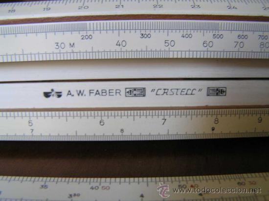 Antigüedades: REGLA DE CALCULO A.W. FABER CASTELL 1/87 SYST. RIETZ AÑOS 40 CALCULADORA SLIDE RULE RECHENSCHIEBER - Foto 32 - 137123658
