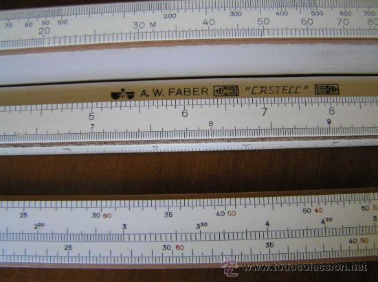 Antigüedades: REGLA DE CALCULO A.W. FABER CASTELL 1/87 SYST. RIETZ AÑOS 40 CALCULADORA SLIDE RULE RECHENSCHIEBER - Foto 35 - 137123658