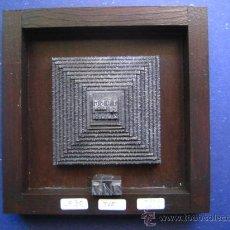 Antigüedades: IMPRENTA COLLAGE TIPOGRAFICO TELEVISION ESPAÑOLA 50 AÑOS - PIEZA UNICA - 15X15 CM . - REF. LP-30. Lote 28854790