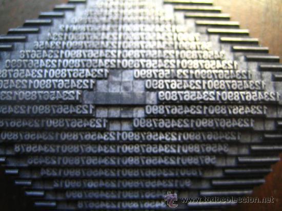 Antigüedades: imprenta cuadro collage tipografico - pieza unica - 15x15 cm. - ref. LP-17 - ver fotos - Foto 4 - 28854977