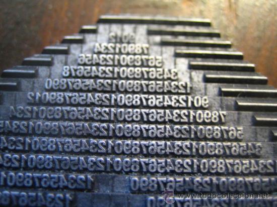 Antigüedades: imprenta cuadro collage tipografico - pieza unica - 15x15 cm. - ref. LP-17 - ver fotos - Foto 5 - 28854977