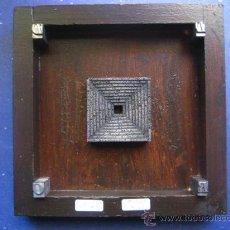 Antigüedades: IMPRENTA CUADRO COLLAGE TIPOGRAFICO - PIEZA UNICA - 15X15 CM. - REF. LP-24 - VER FOTOS. Lote 28855104
