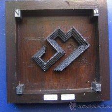 Antigüedades: IMPRENTA CUADRO COLLAGE TIPOGRAFICO - PIEZA UNICA - 15X15 CM. - REF. LP-26 - VER FOTOS. Lote 28855129