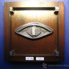 Antigüedades: IMPRENTA CUADRO COLLAGE TIPOGRAFICO - PIEZA UNICA - 15X15 CM. - REF. LP-28 - VER FOTOS. Lote 28855207