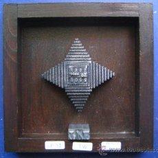 Antigüedades: IMPRENTA COLLAGE TIPOGRAFICO TELEVISION ESPAÑOLA 50 AÑOS - PIEZA UNICA - 15X15 CM . - REF. LP-31. Lote 28855333
