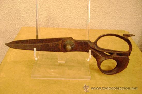 TIJERAS DE SASTRE DE FORJA SIGLO XVIII-XIX (Antigüedades - Técnicas - Cerrajería y Forja - Varios Cerrajería y Forja Antigua)