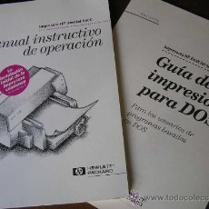Antigüedades: MANUAL INSTRUCTIVO DE OPERACION DE IMPRESORA HP DESKJET 660C Y GUIA DE IMPRESION PARA DOS. Lote 28914585
