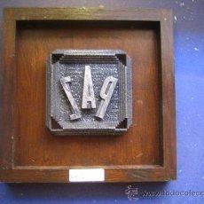 Antigüedades: IMPRENTA CUADRO COLLAGE TIPOGRAFICO - REF. LG10 PIEZA UNICA - TAMAÑO 20X20 - VER FOTOS. Lote 28921933