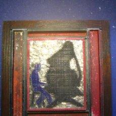 Antigüedades: IMPRENTA CUADRO COLLAGE TIPOGRAFICO - REF. LG 26 PIEZA UNICA - TAMAÑO 20X20 - VER FOTOS. Lote 28923191
