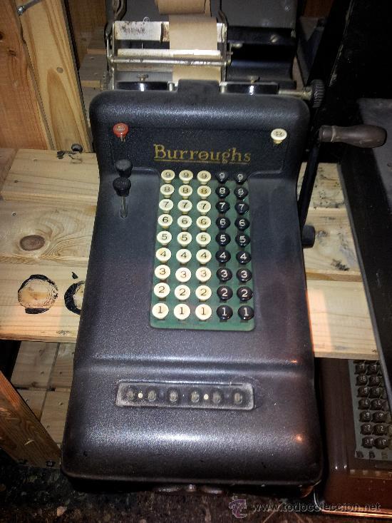 MÁQUINA CALCULADORA BURROUGHS (Antigüedades - Técnicas - Aparatos de Cálculo - Calculadoras Antiguas)