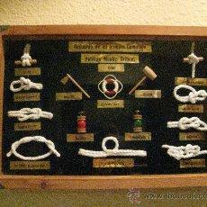 Antiquités: CUADRO MARÍTIMO CON DIFERENTES NUDOS. Lote 29011681