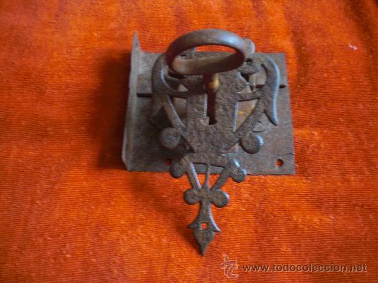 Antigüedades: CERRADURA LLAVE Y BOCALLAVE DE FORJA S XVIII- XIX FUNCIONANDO. - Foto 4 - 29013706