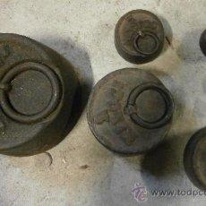Antigüedades: LOTE DE 6 PESAS. Lote 29089483