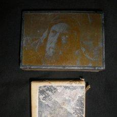 Antigüedades: DOS TACOS PARA IMPRESION.ESCENA BIBLICA Y PAISAJE DE MONTAÑA.. Lote 35301942
