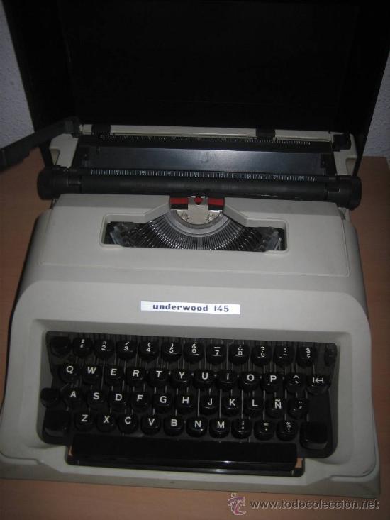 MAQUINA DE ESCRIBIR UNDERWOOD 145 EN . (Antigüedades - Técnicas - Máquinas de Escribir Antiguas - Underwood)