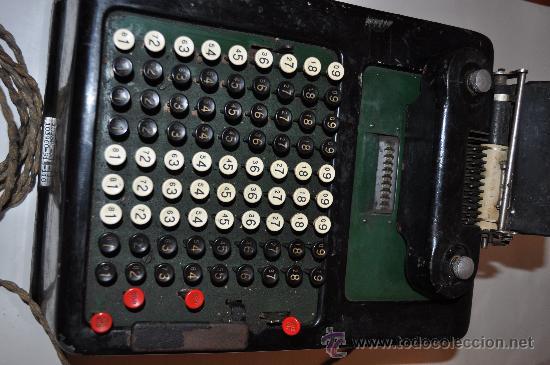 REGISTRADORA CALCULADORA BARRETT DESLE ELECTRIC (Antigüedades - Técnicas - Aparatos de Cálculo - Cajas Registradoras Antiguas)