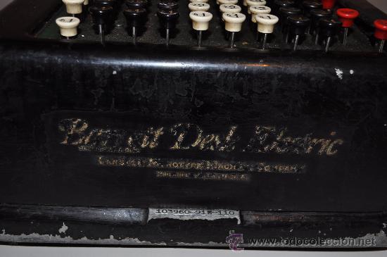 Antigüedades: REGISTRADORA CALCULADORA BARRETT DESLE ELECTRIC - Foto 4 - 29229452