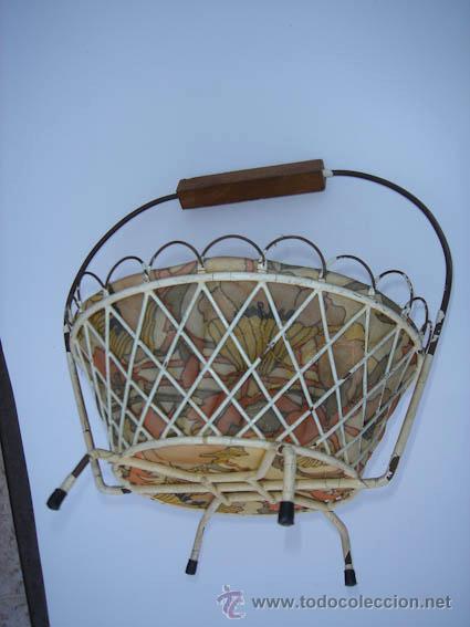 Antigüedades: Costurero antiguo en forma de cesta. - Foto 2 - 29245599