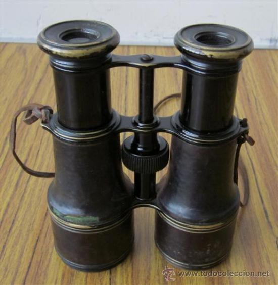 PRISMATICO DE METAL Y CUERO .. JACINTO DE URIBARREN - BILBAO (Antigüedades - Técnicas - Instrumentos Ópticos - Prismáticos Antiguos)
