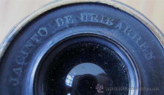 Antigüedades: PRISMATICO de metal y cuero .. JACINTO DE URIBARREN - BILBAO - Foto 5 - 29259204