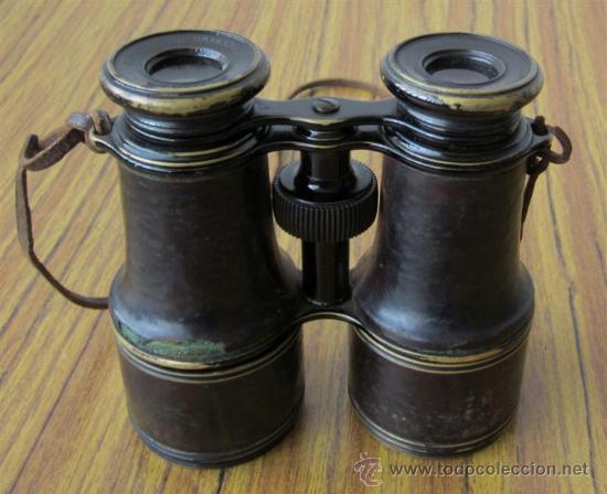 Antigüedades: PRISMATICO de metal y cuero .. JACINTO DE URIBARREN - BILBAO - Foto 6 - 29259204