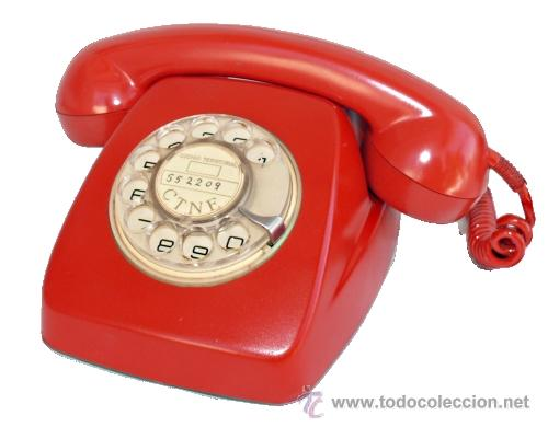 Telefono antiguo heraldo de telefonica en rojo comprar for Guia telefonica malaga