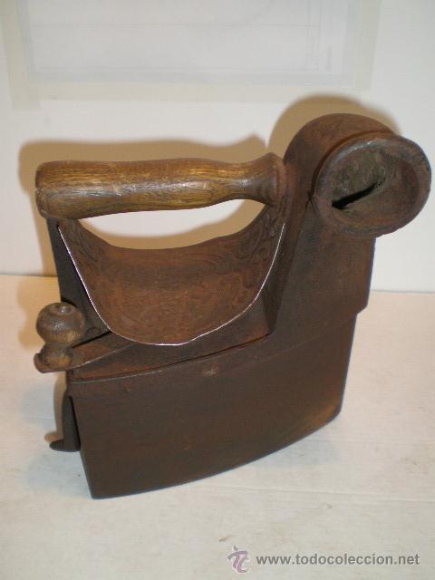 PLANCHA DE CHIMENEA - IMPECABLE (Antigüedades - Técnicas - Planchas Antiguas - Carbón)