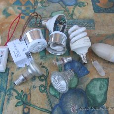Antigüedades: LOTE VARIADO DE BOMBILLAS ESPECIALES Y MATERIAL ELECTRICO. Lote 29311557