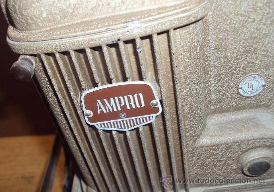 Antigüedades: PROYECTOR SONORO DE CINE 16 MM. AMPRO STYLIST SOUND PROJECTOR - MADE IN USA AÑOS 40/50 - Foto 3 - 29334782