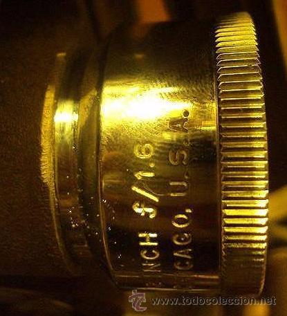 Antigüedades: PROYECTOR SONORO DE CINE 16 MM. AMPRO STYLIST SOUND PROJECTOR - MADE IN USA AÑOS 40/50 - Foto 6 - 29334782